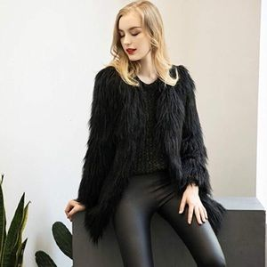 Jackets & Blazers - NWT Black Faux Fur Jacket